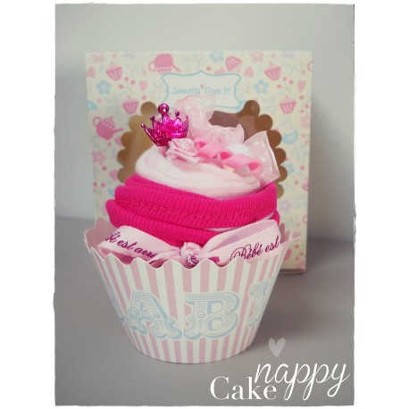 Mon cupcake de  Princesse rose Nappy Cake gateau de couches