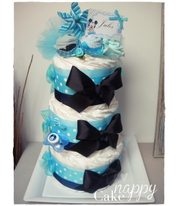 Gateau de couches Elegance Mickey tetine Nappy Cake créations