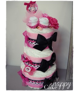 Gateau de couches Elegance Minnie Nappy Cake créations