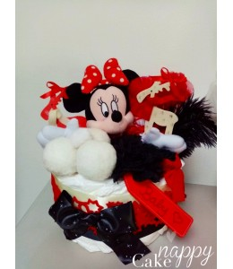 Gateau de couches Minnie Noel Nappy Cake