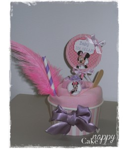 Cadeau glaçé Minnie Ice cream rose Nappy Cake