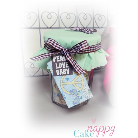 Body marmelade Peace and Love Gateau de couches Nappy Cake