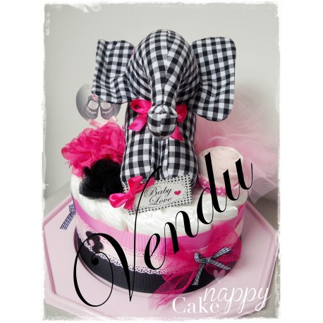 Gateau de couches Pink Baby Love Nappy Cake