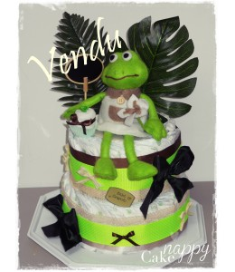 Gateau de couches grenouille My Crapoto