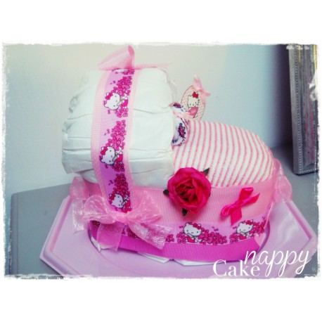 Couffin de couches Hello Kitty rose Nappy Cake